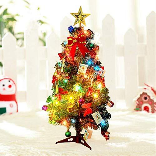 WARRT Arbol de Navidad Paquete De Árbol De Navidad con Adornos De Navidad Led Multicolor Luces Decoraciones para El Hogar L