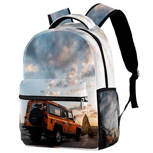 TIZORAX Rucksack Cross Country Wrangler Schultasche Rucksack Reisen Casual Tagesrucksack für Frauen Teenager Mädchen Jungen