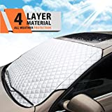 MATCC Car Windshield Sun Shade Blocks UV Rays,Dust,Particle and Heat Reflective Sun Shade Protector Foldable Sun Shield Automotive Sun Visor Protector Fits Most of Car All Weather Using (57.8×40 in)