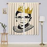 lacencn R.B.G Ruth Bader Ginsburg - Cortinas de cristal para puerta de dormitorio (76 x 45 cm)