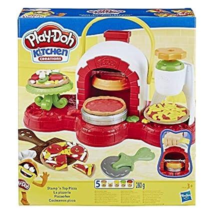 Play Doh-Cocina de Pizza, Multicolor, Talla Única Hasbro E4576EU4 , Color/Modelo Surtido