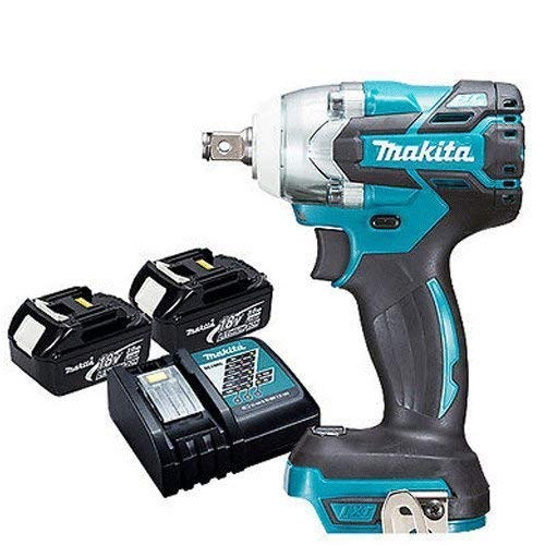Makita DTW285Z 18V LXT Brushless 1/2in Impact Wrench with 2 x BL1830 & DC18RC
