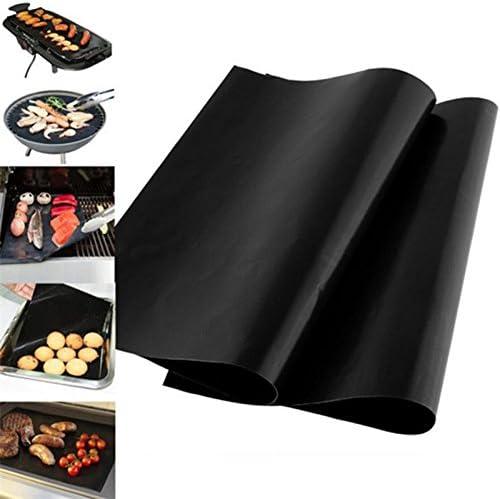 5x Toruiwa Tapis de Cuisson Grille Barbecue Anti-adhérent pour Barbecue et Four pour Barbecue à Gaz, Charbon et Electriques 33*40cm 1pcs