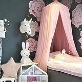 Kinder Betthimmel Babybett Baldachin Prinzessin Moskitonetz Kindergarten Spielzimmer Dekor Kuppel Premium Garn Netting Vorhänge, Rosa - 5