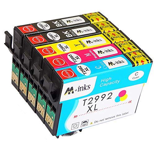 Abcs Printing Cartucce inchiostro Compatibili per 29 XL, Cartuccia Epson Expression Home XP245 255 257 352 355 452 455 247 332 335 342 345 432 435 442 445,2 Nero,1 Ciano,1 Magenta, 1 Giallo