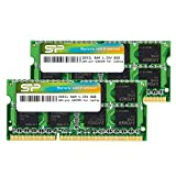 Silicon Power Hynix IC Compatible for Apple DDR3 DDR3L 16GB (2 x 8GB) RAM 1600MHz (PC3 12800) 204 pin CL11 1.35V Non ECC Unbuffered SODIMM Laptop Memory Module - Low Voltage