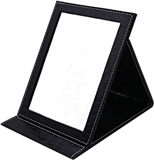 Oneuo Desktop Folding Mirror, Portable Folding Vanity Mirror, Tabletop Mirror with Stand for Cosmetics Personal Beauty, Makeup Mirror