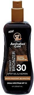 Australian Gold Spray Gel Sunscreen with Instant Bronzer SPF 30, 8 Ounce | Moisturize & Hydrate Skin | Broad Spectrum | Wa...