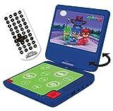 """Lexibook Pyjamasques Yoyo Lecteur DVD Portable, écran LCD 7"""", 2 Haut-parleurs, Batterie Rechargeable, Violet/Vert, DVDP6PJM"""
