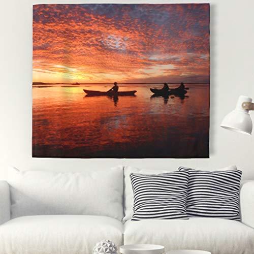 Middagssol väggbonad natur landskap gobeläng väggdekoration bordsduk strandhandduk till vardagsrum sovrum dekor 1 230 x 150 cm