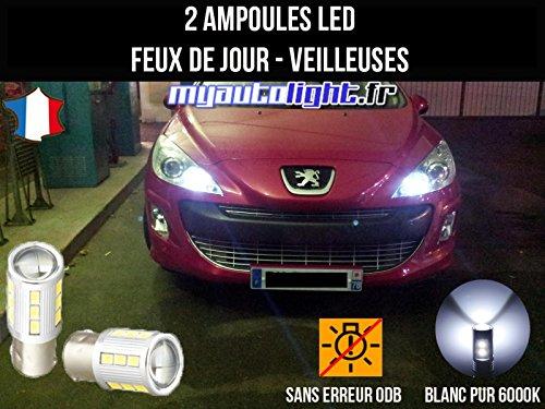 Pack de faros LED de luces de circulación diurna, luces de posición, color blanco xenón