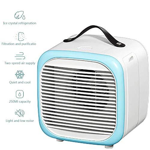 KP&CC Enfriador de Personal y silencioso Mini Aire, acondicionador de Aire portátil del Ventilador, Ventilador de Escritorio 2 Speed USB, para el hogar Sitio de la Oficina
