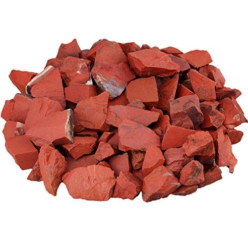 mookaitedecor Piedras preciosas de jaspe rojo en bruto para familia, oficina, jardín, acuario, cristal, reiki y curación (460 g)