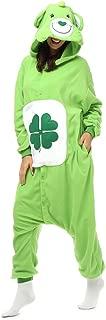 Adult Clover Care Bear Onesie Fleece Cartoon Sleepwear Cosplay Costume Unisex