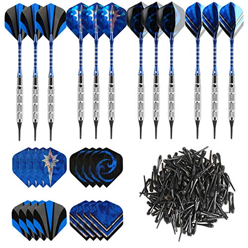 GWHOLE 18g Soft Dart with 16 Dart Flights and...