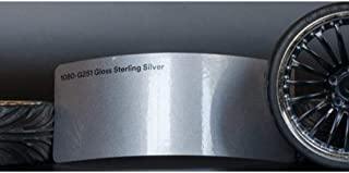 3M 1080 Gloss Sterling Silver | G251 | Vinyl CAR WRAP Film (5ft x 2ft (10 Sq/ft)) w/Free-Style-It Pro-Wrapping Glove