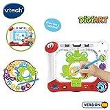 VTech 3480-169022 DigiART Tableau avec pochoirs et Dessins Roues à colorier