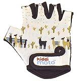 KIDDIMOTO Guantes de Ciclismo sin Dedos para Infantil (niñas y niños) - Bicicleta, MTB, BMX, Carretera, Montaña - Llama - Talla: S (2-5 años)