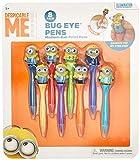 Inkology Bug Eye Minion Pen, Medium Point, Black Ink, Pack of 8