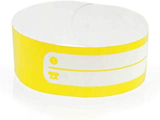 FUN FAN LINE - Jeux de 100 Bracelets d'identification en Papier tyvek avec Zone d'écriture pour Enfants et Personnes âgée...