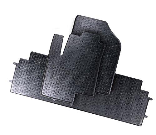 DAPA Prime Gummimatten für ix20 Venga Gummi Fußmatten Komplettset Schwarz perfekt passend mit Rand 1103670