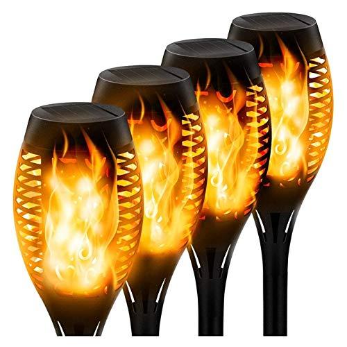 Luces Solares De Llama, Antorcha Impermeable IP55, Llamas Solares, Lámparas LED De Jardín, Exteriores Con Llamas Danzantes, Decoración De Jardín, Patio, Camino (paquete De 4)