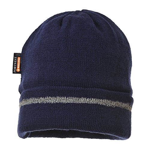 Portwest B023 - Sombrero hecho punto reflectante Recortar, color Armada