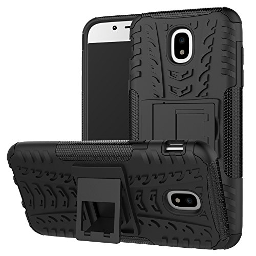Galaxy J5 Pro (2017) Case, Linkertech [Shockproof] Tough Rugged Dual Layer Protector Hybrid Case Cover with Kickstand for Samsung Galaxy J5 Pro International Version (Black)