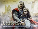 Thor The Dark World Beidseitige Filmplakat Regular Quad -