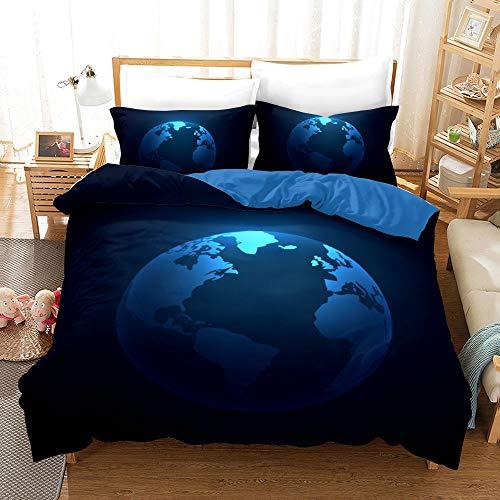 Yinghesheng Ropa de Cama Galaxia Universe Universo Cielo Estrellado Mandala Lunar Planeta 3D Colorido Púrpura Azul Funda nórdica Cama 90 cm/105 cm/150 cm,Universe8,200x200cm