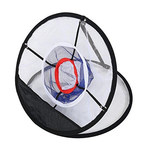 Bnineteenteam Golfball-Netz, schwarzes Nylongeflecht, faltbares Golf-Chipping-Netz, Bälle, Trainingszubehör für den Innenhof im Freien, leicht zu tragen und zu Falten.