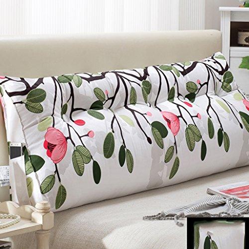 WOFULL Tweepersoonsbed kussens/rugkussen, afneembaar, nachtkastje/sofa/kantoor/beschikbaar voor de taille/leesmat kussen