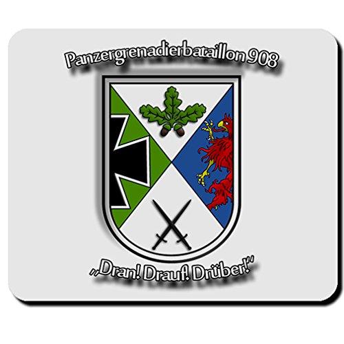 Panzergrenadierbataillon PzGrenBtl 908 Drauf Dran Drüber Wappen Mauspad #5695
