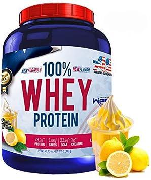 100% Whey Protein con Probioticos Lactospore, American Suplement, 2kg, yogur limón