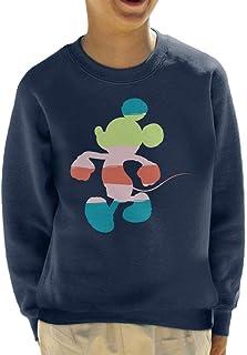 Disney Mickey Mouse Colour Silhouette Kid's Sweatshirt
