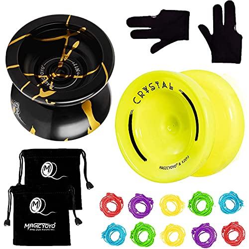 MAGICYOYO N11 Black Golden Unresponsive Yoyo Alloy Aluminum YoYo K2 Yellow Responsive Plastic...