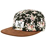 Blackskies Black Beauty Vol. II Gorra de 5-Panel Rosa Negra con Flores Gorra de Béisbol Unisex