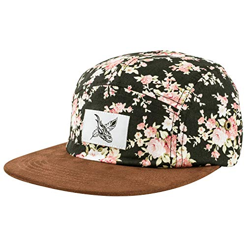 Blackskies Black Beauty Vol. II 5-Panel Cap Rose Schwarz mit Blumen Unisex Baseball Mütze