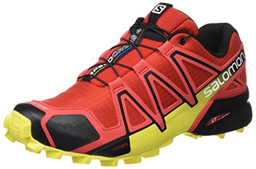 Salomon Herren Speedcross 4 Trailrunning-Schuhe, Rot (Radiant Red/Black/Corona Yellow 000), 40 EU