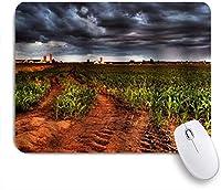 ZOMOY マウスパッド 個性的 おしゃれ 柔軟 かわいい ゴム製裏面 ゲーミングマウスパッド PC ノートパソコン オフィス用 デスクマット 滑り止め 耐久性が良い おもしろいパターン (カラフルなトウモロコシ畑)
