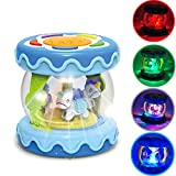 WISHTIME Baby Musical Mini Drum Toy - Educational Learning Toy for Baby Electronic Drum Instruments with Lights for 1 2 3 Year Old Toddlers Kids Boys and Girls…