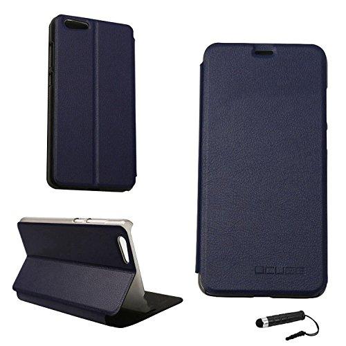 Tasche für Elephone S7 Hülle, Ycloud PU Ledertasche Metal Smartphone Flip Cover Hülle Handyhülle mit Stand Function Marineblau