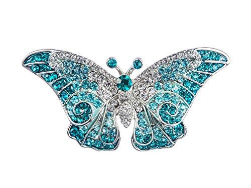 ALILANG Frauen Empress Monarch Bling Glänzend Elegant österreichischen Kristall Strass Winged Flügel Schmetterlings Brosche