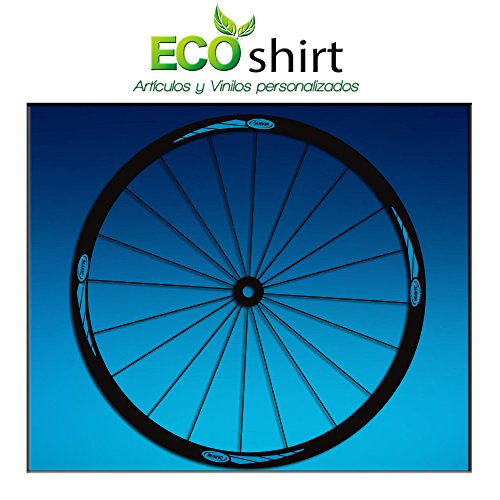 Ecoshirt VB-DY1I-6ZEO Pegatinas Stickers Llanta Rim Mavic 26' 27,5' 29' Am43 MTB Downhill, Azul
