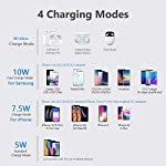 """Yootech Wireless Charger Qi-Certified 10W Max Fast Wireless Charging Compatible with iPhone 11/11 Pro/11 Pro Max/XS MAX/XR/XS/8Plus, Galaxy Note 10/Note 10 Plus/S10/S10 Plus/S10E(No AC Adapter) 11 【3 Charging modes Available for Different Phones】7.5W charging mode is for iPhone 11/11 Pro/11 Pro Max/XS MAX/XS/XR/X/8/8 plus with latest iOS System; 10W charging mode is compatible with Note 10/10 Plus/S10/S10 Plus/S10E/Note9/S9/S8 and so on; 5W charging mode works on Any Qi-enabled devices like Google Pixel 3/3XL/4XL and other Qi-enabled phones. Note: Adapter is Not Included, QC 2.0/3.0 adapter, iPhone 11 Pro /11 Pro Max PD Adapter, Note 10/10 Plus PD Adapter will be highly recommended. 【Unique Design Perfect for AirPods】 It is compatible with AirPods (with wireless charging case) and AirPods Pro. The size of the AirPods fits perfectly into the charging area of the wireless charging pad, perfect wireless charging companion for AirPods, easier to find the """"Sweet Spot"""". Also, both top and bottom have a rubber ring, will keep your AirPods in place and prevent slippage. 【Safer and Easier to USE】Exclusive Multifunctional Intelligent Protect Technology provides temperature control, surge protection, short-circuit prevention. Besides that, this wireless chargers is Qi-certified, made of ABS Material which is fire-resistant, and has a UL Certificate, you can purchase it at assurance. Double guarantee and dual safety provide you safety experience. To get better experience, we would like you to take off the phone case and use the adapters recommended (NOT INCLUDED)."""