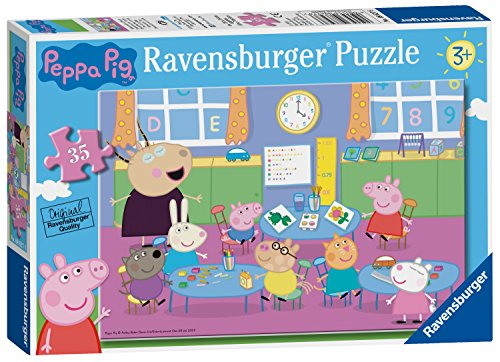 Ravensburger Peppa Pig - klaslokaal Fun 35pc puzzel