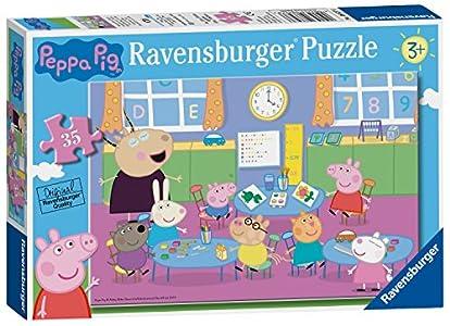 Ravensburger Peppa Pig - Puzzle de 35 Piezas, diseño Divertido de salón de Clase