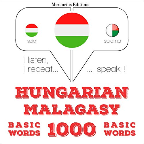Hungarian – Malagasy. 1000 basic words cover art