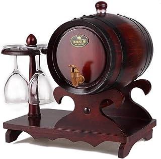 Tonneau de vin, Tonneau en bois de chêne pour le stockage ou le vieillissement des vins et spiritueux Porte-gobelets avec ...
