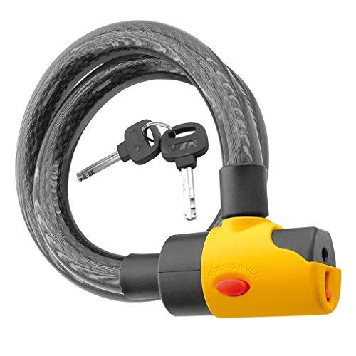Hangslot met akoestisch alarm 16 mm en 100 cm fiets